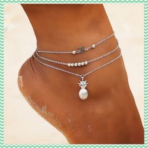 Jewelry - Anklet multilayered pineapple new